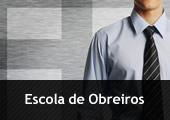 Homem com gravata - com inscrição Escola de Obreiros