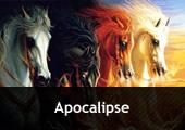 Quatro cavalos em cores diferentes - com a inscrição Apocalipse