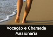 Caminhada na areia, com a inscrição Vocação e Chamada Missionária