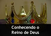 Coroa dourada - com a inscrição Conhecendo o Reino de Deus
