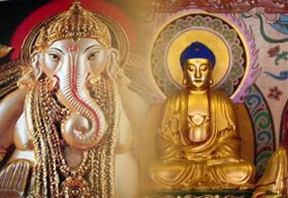 Estátuas Hinduísmo e Budismo