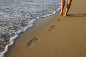 Caminhada na areia - Vocação e Chamada Missionária